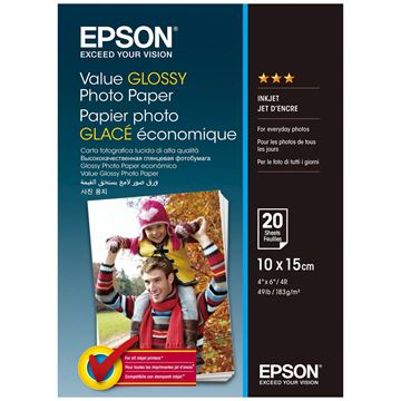 Picture of PAPIR EPSON FOTO GLOSSY 10x15cm 20 LISTOV 183g/m2