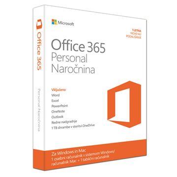 Picture of MICROSOFT Office 365 Personal slovenski FPP 32/64 bit enoletna naročnina