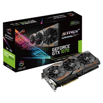 Picture of Grafična kartica ASUS GeForce GTX 1070 ROG Strix OC 8GB GDDR5 (ROG STRIX-GTX1070-8G-GAMING)