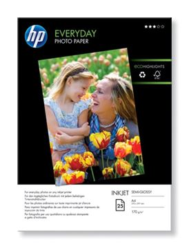 Picture of PAPIR HP INK EVERYDAY PH QUALITY GLOSS, A4, 25 LISTOV, 200g/m2 (Q5451A)