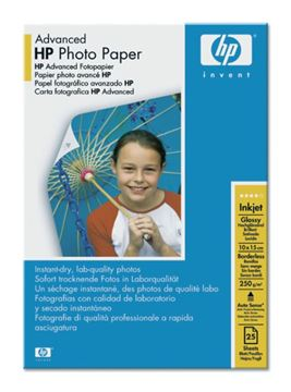 Picture of PAPIR HP ADVANCED GLOSSY PHOTO 10x15, 25 LISTOV, 250g/m2 (Q8691A)