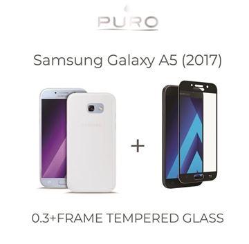 Picture of Paket ovitek + steklo Samsung A5 (2017) prozoren