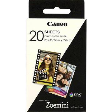Picture of Papir CANON ZINK foto 20 pack za ZOEMINI
