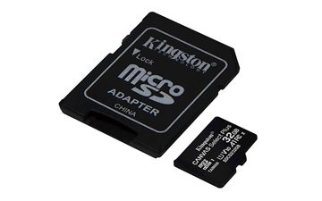 Picture of SDHC KINGSTON MICRO 32GB CANVAS SELECT Plus, 100MB/s, C10 UHS-I, adapter