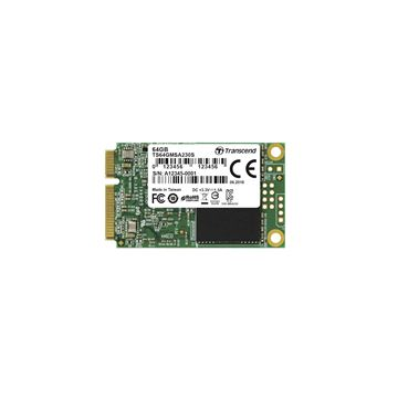 Picture of SSD Transcend mSATA 64GB 230S, 390/200MB/s, 3D NAND, SATA III (6GB/s)