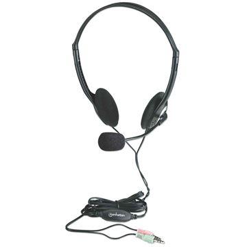 Picture of MANHATTAN Stereo 3,5mm žične z mikrofonom slušalke