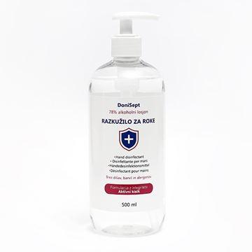 Picture of 78% Alkohola - Dezinfekcijsko sredstvo za roke, 500 ml s pumpico (razkužilo)